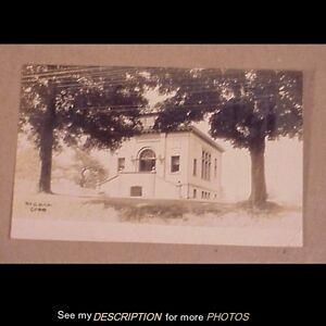 Scarce 1908 RPPC Postcard Durham Connecticut Library