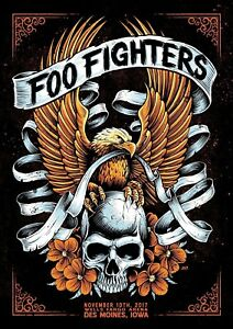 Reproduction-034-Foo-Fighters-Des-Moines-034-Poster-Grunge-Home-Wall-Art