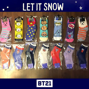 BTS-BT21-Official-Authentic-Goods-Winter-Socks-2P-SET-Cozy-Winter-Ver