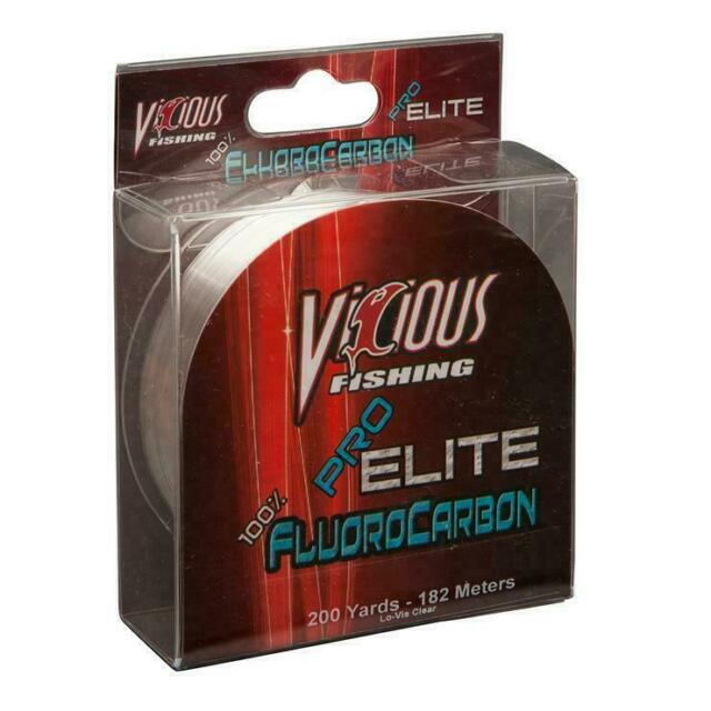 Vicious Fishing Fluorocarbon Line 17 Lb Test 200 Yds Lo-Vis Clear