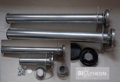 Pellet Rohrstutzen 200 mm Verlängerung 200 mm für PELLETS STORZ SET