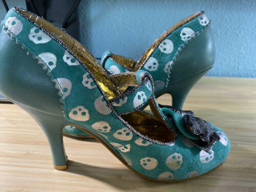 Irregular Choice 36.5 Pale Green Skulls