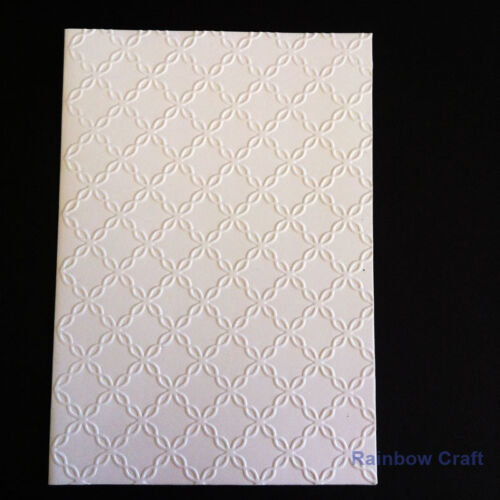 5 Embossed Cards /& Envelopes cotton thread Wedding invitations party invitation