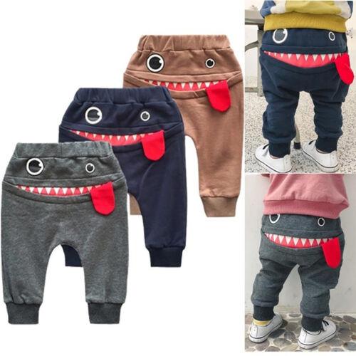 Cartoon Baby Cotton Toddler Pants Newborn Casual Trousers boys Elastic Pants TEU