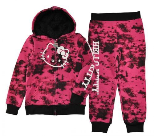 Hello Kitty Girls 2-Piece Printed Fleece Sweatsuit Size 2T 3T 4T $44
