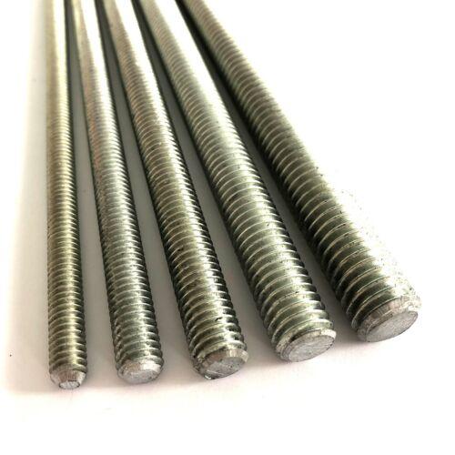 "4.8 Mild Steel Zinc Plated Studding Rod 18/"" Long BSW Whitworth Threaded Bar"