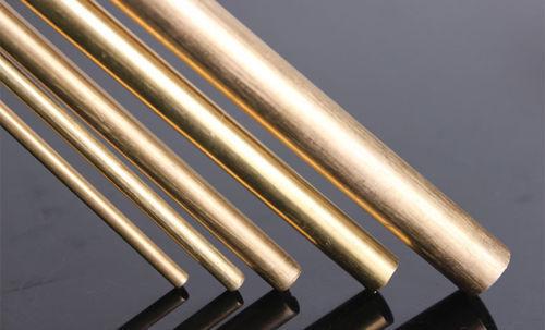 2pcs Φ10mm x 400mm H62 Brass Round Rod D10mm x 400mm long Solid Lathe Bar cut