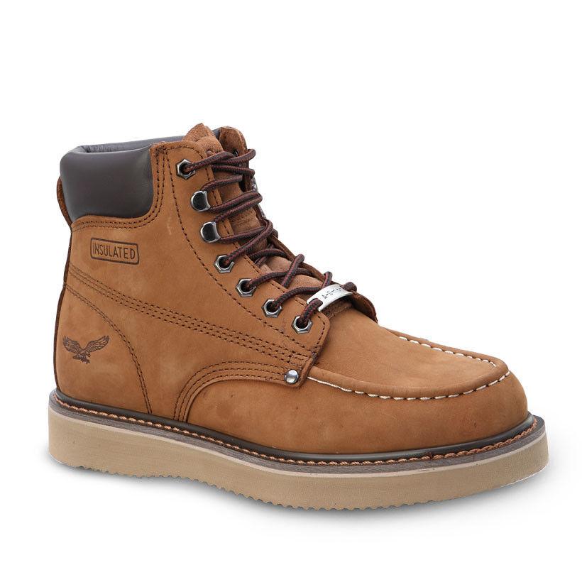 Mens braun 6  Mocc Toe Leather Nubuck Work Stiefel BONANZA 650 Größe 5-13 (D, M)