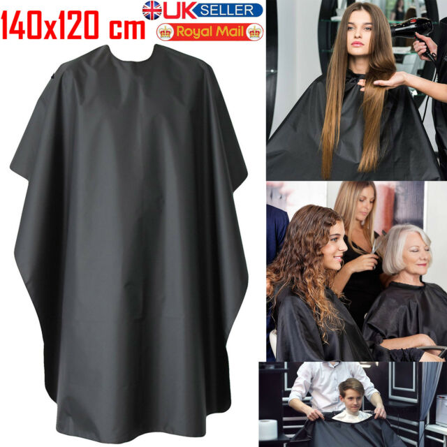 Hairdressing Cape Gown Salon  Barber Hair Cutting Apron Hairdresser Unisex Black