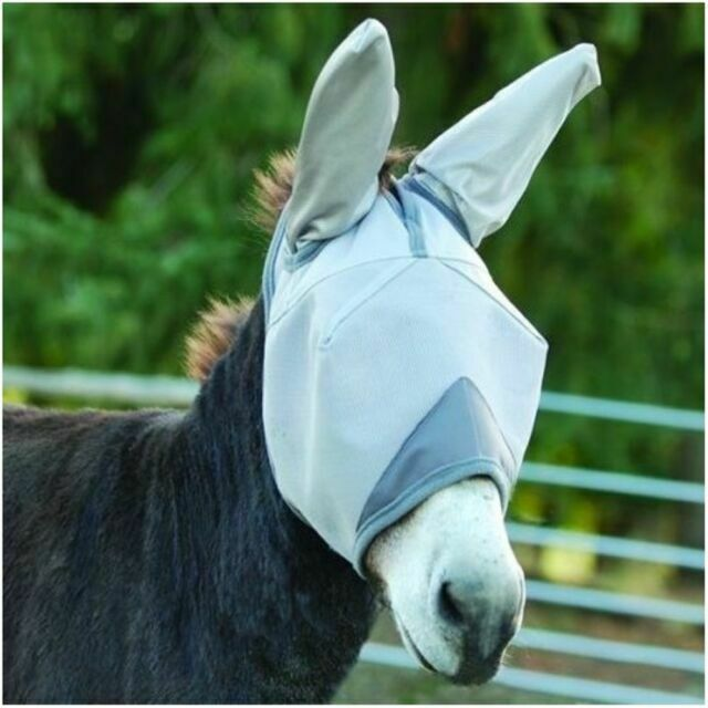 Cashel Crusader Mule Donkey Fly Mask Draft Large With Long Ears
