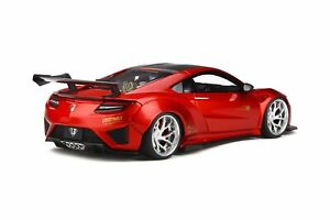 Honda-Nsx-sur-Mesure-car-par-lb-Travaux-Candy-Red-1-18-Gt-Spirit-GT245-Neuf-Ovp
