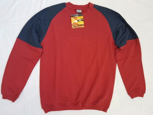 Brand New Was £49 No Fear Red Embossed Sweat Shirt ---