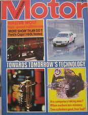 Motor 11/11/1978 featuring Ford Capri road test, Porsche 924, Walter Wolf