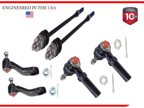 Front Idler Pitman Arm Inner Outer Tie Rod End Steering Kit Set 6pc New