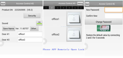 2 Doors Security Access Control System Kit with RFID Reader 600lbs Magnetic Lock