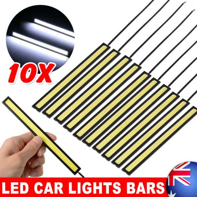10X Waterproof Car DRL Fog LED Light Strip Daytime Running COB Bright Drive Lamp