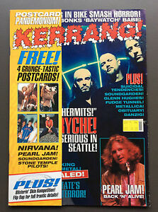 KERRANG MAGAZINE #516 October 15 1994 Queensryche Cover and 4 Grunge Postcards