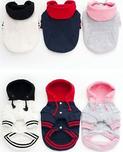 HOT-Puppy-Pet-Dog-Cat-Clothes-Hoodie-Winter-Warm-Sweater-Coat-Costume-Apparel-US