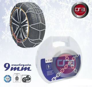 Catene da neve a rombo spessore 9mm per auto pneumatico 165//65R14 1656514