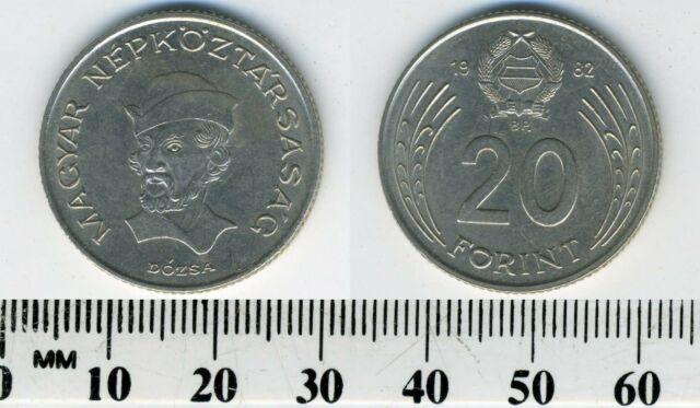 Hungary 20 Forint, 1982, György Dózsa