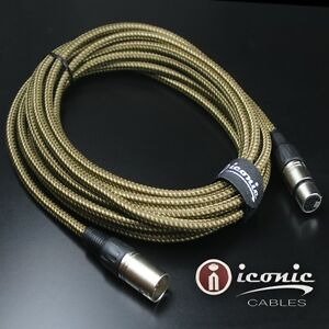 7 pin xlr 20ft female to male vacuum tube microphone 20 39 cable cord brown tweed ebay. Black Bedroom Furniture Sets. Home Design Ideas