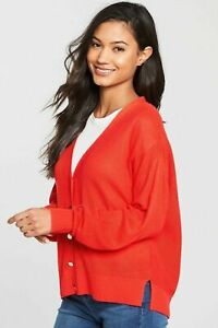 BNWT-V-by-Very-Tie-Back-Cardigan-Red-Orange-Size-12