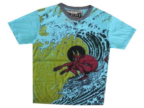 Hommes T Shirt Surf Ocean Sea Devil VAGUES plage été paix Hobo Boho M SURE Weed