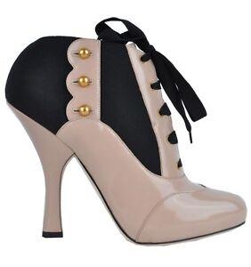 02930 Beige Boots Dolce Runway Stiefeletten amp; Barock Gabbana Baroque Pumps xvq76Fw
