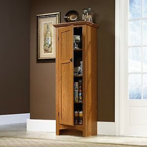 Image Is Loading Oak Food Pantry Storage Cabinet Hutch Kitchen Dining