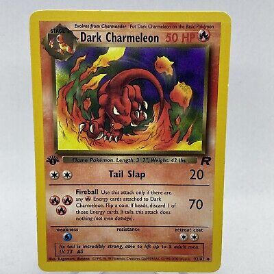 Dark Charmeleon Uncommon Pokemon Card 1st Edition Team Rocket 32//82
