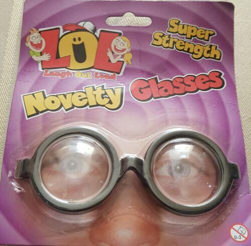 """Novelty Joke/"""" NERD/"""" Glasses Super  Strength by  LOL"""