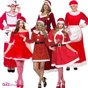 5c0e0b4c448 Miss Mrs Santa Claus Deluxe Costume Adult Womens Ladies Christmas ...