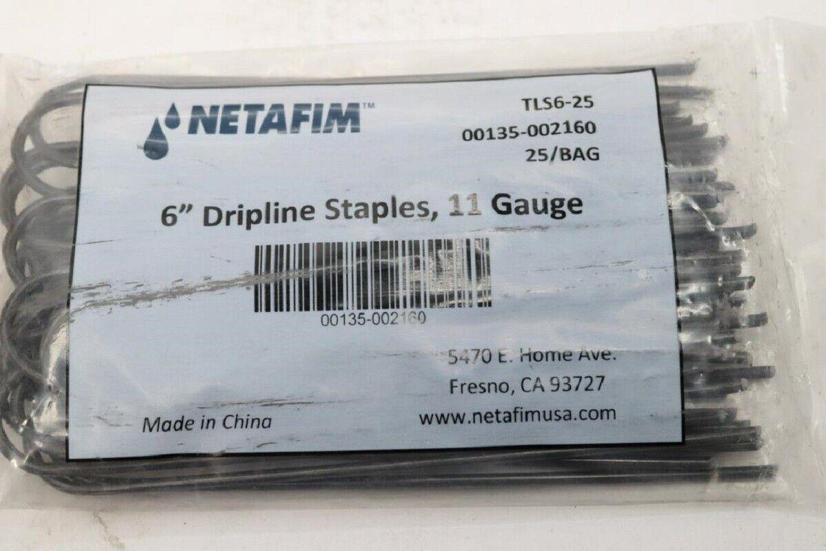 Cantidad 1000 Netafim Dripline galvanizado 6  GRAPAS DE CALIBRE 11   00135-002160