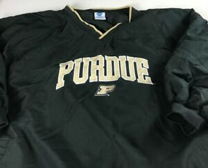 Purdue-Boilermakers-Windbreaker-Mens-3XL-Half-Short-Sleeve-Jacket-Lined-Alumni