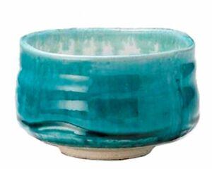 Yamakiikai-Mino-yaki-Matcha-Tea-Bowl-Turquoise-Blue
