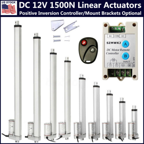 DC 12V Linear Actuator 330LB//1500N 50-450mm for Auto Car Lift Heavy Duty Medical