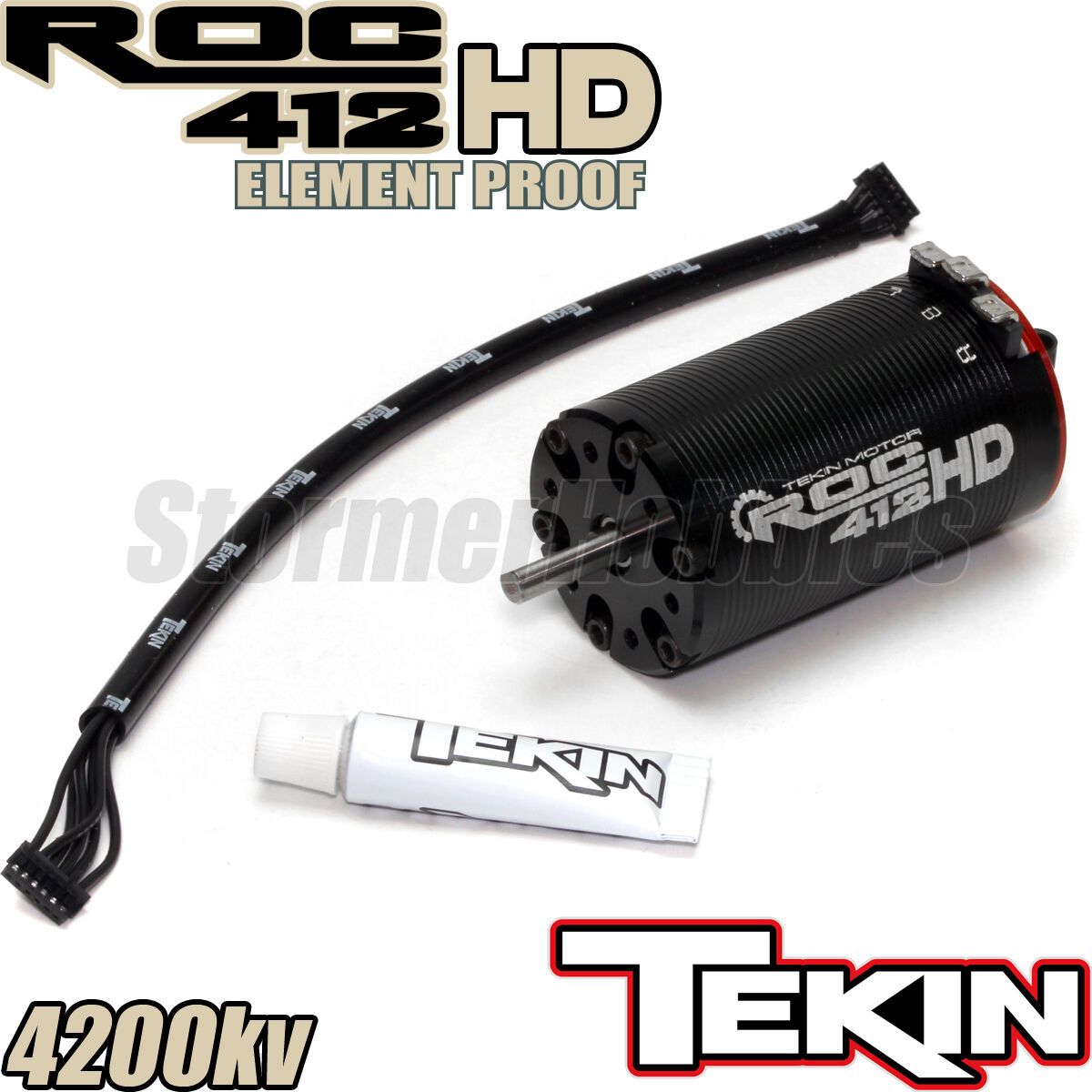 Tekin ROC412 HD Element Proof Sensorosso Brushless Crawler Motor, 4200KV TEKTT2630