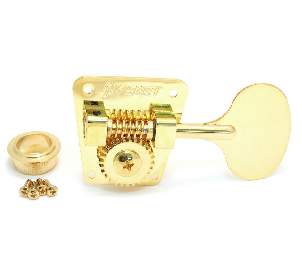 (4) Hipshot HB2 Classic Gold Round LOLLIPOP Tuners for 60s/70s Fender® Bass