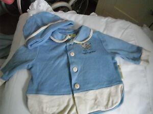 Baby Veste Et Chapeau 0-3 Taille Bébé Ou Reborn-afficher Le Titre D'origine Sans Retour
