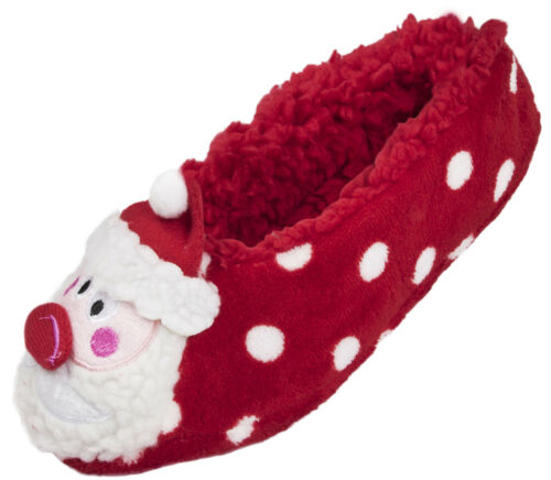Ladies Christmas Slipper Socks 3D Xmas Footlets Novelty Ballet Mules Gift Size