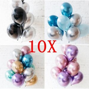 10-034-Chrome-Balloons-Bouquet-Birthday-Party-DecorWedding-Shiny-BALLOONS