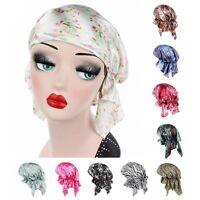 Damen Stretch Turban Chemo Haarausfall Bonnet Cap Kopf Verpackungs Kopftuch Nl