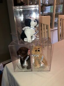 ty beanie babies cookies & cream , Morsel & chocolate kiss MWMTs with cases