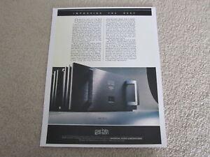 Details about Mark Levinson No 23 5 Amplifier Ad, 1991, 1 pg, Article