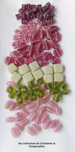 Impartial Perles En Pate De Verre Formes Diverses Et Couleurs Variees Lot En Vrac * Lustre Brillant