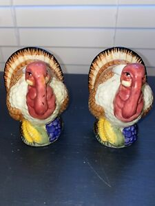 Holiday-Turkey-Candle-Stick-Holder-Set-of-2-Table-Decor-Thanksgiving