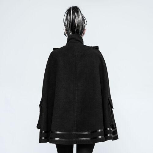 Party Casual Cape 6954151481758 Style Cloak Uniform Jacket Rave Military Punk Black gothic F w0qxUgnBF