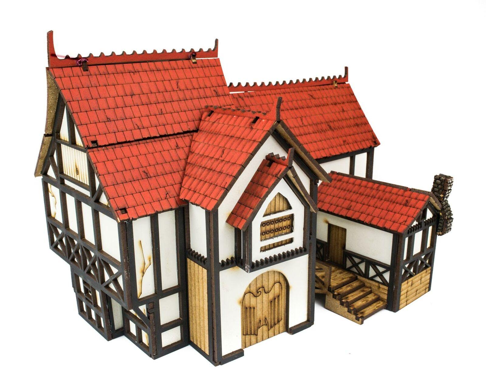 Ciudad medieval wwg Manor House (Pintado Sin Pintar) – 28mm warJuego terreno