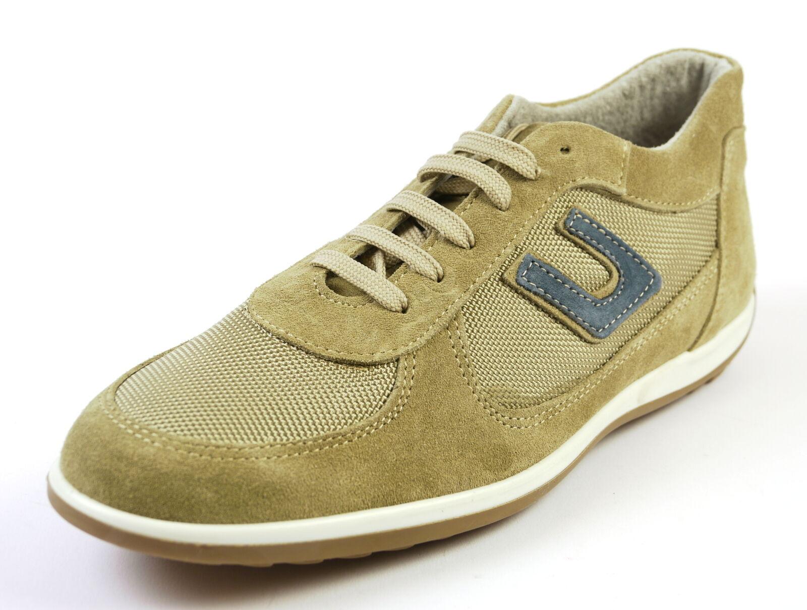 Camosico 306 italienischer stylischer italienischer 306 Sneaker Leder Textil beige Gr. 41 -43 NEU 2d803b