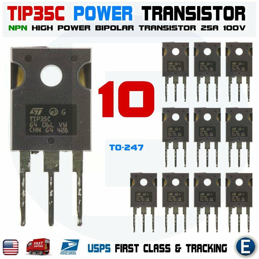 10pcs  TIP142 TRANSISTOR NPN DARLINGTON 100V 10A
